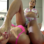 2 sweet lesbians play with oil amp finger pussy 1